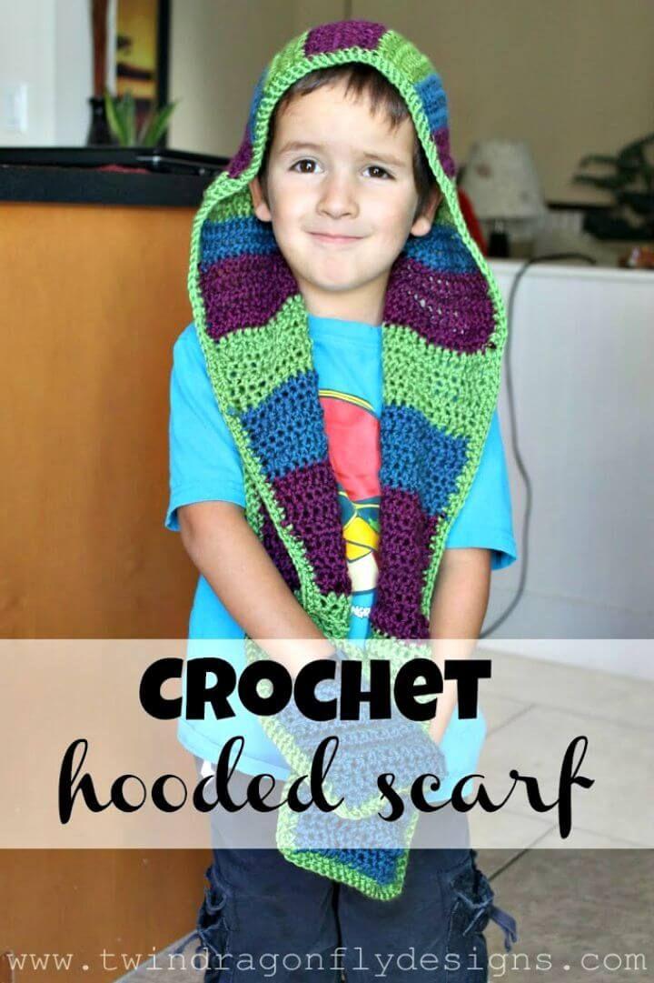 31 Free Crochet Hooded Scarf Patterns Free Crochet Patterns