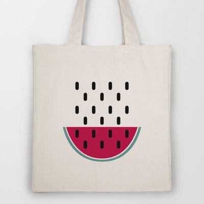 Watermelon Tote Bag by According to Panda
