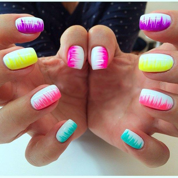 Colorful Neon Colors Nail Art Ideas Just For You In 2020 Nagel