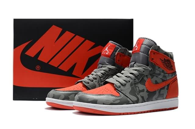 Cheap Air Jordan 1 Retro High AJ1 Camouflage Mens shoes Gray Red |Wholesale Jordan 1 Men|Discount Only Price $65 To Worldwide|Free Shipping WhatsApp:8613328373859