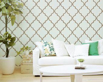 Peel and Stick Quatrefoil Pattern Removable Wallpaper door Livettes