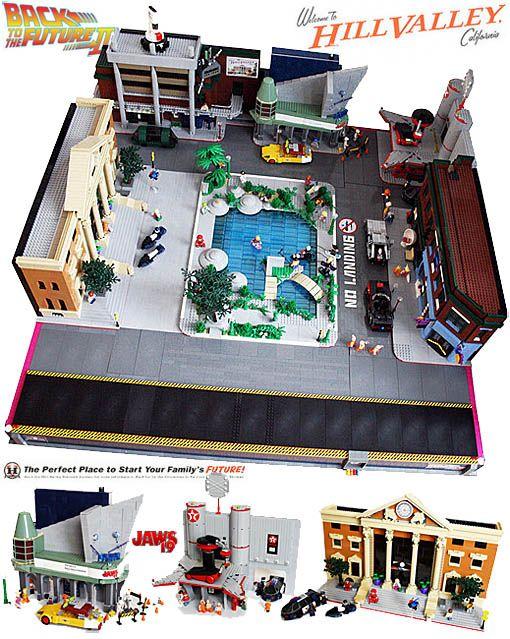 De Volta para o Futuro LEGO: Hill Valley em 2015 Playset