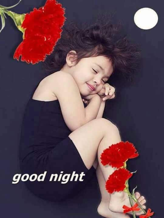 Good Night Images With Cute Baby Girl : night, images, Little, Night, Photo., Images,, Sweetheart,, Image