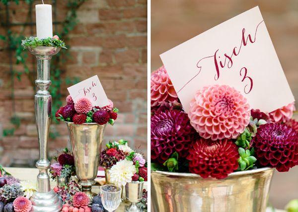 Elegant Hochzeit Beerenfarbe