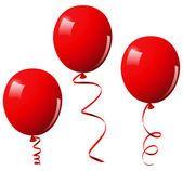 Ilustración vectorial de globos rojos Vectores De Stock Sin Royalties Gratis