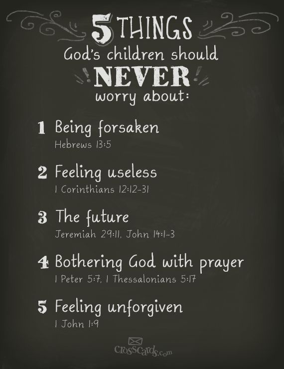 5 things God's children NEVER have to #worry about! #Inspirational #BibleVerses   Inspirations!   Pinterest   Inspirational, Child and Bible
