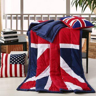 Покрывало с британским флагом легкое