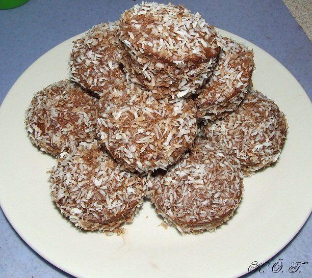 Kókuszkocka muffin / coconut square muffin