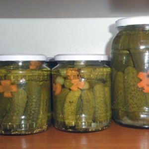 Castraveti murati   Ingrediente:   castraveti micuti    otet    sare    zahar    marar, frunze de telina, dafin, piper