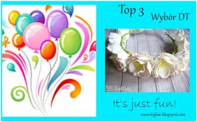 It's just fun: Wyniki wyzwania # 18 Kwiaty handmade
