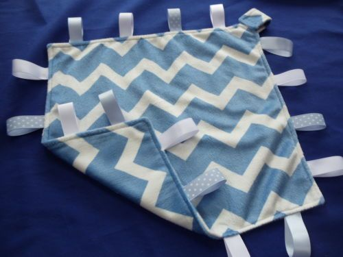 Tag-Blanket-Taggie-FREE-Dummy-Holder-Toy-Link-Blue-Minky-Indulgence