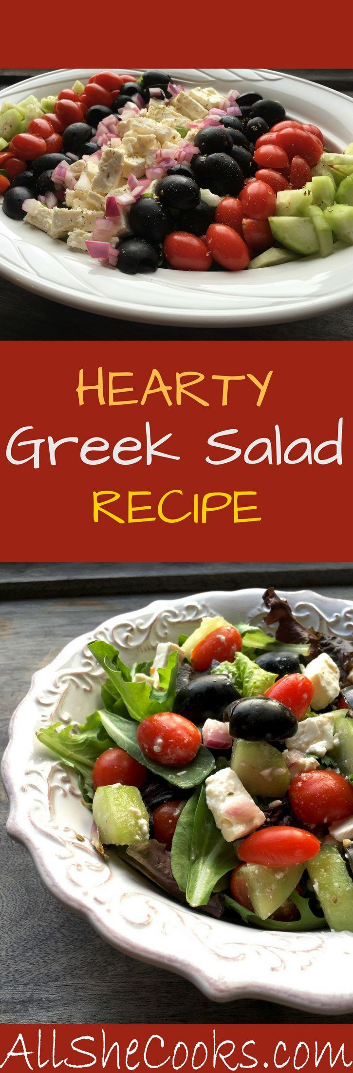 Healthy Greek Salad recipe is a good recipe for getting your diet on track this year.