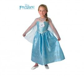 Disfraz de Elsa de Frozen Deluxe para Niña en varias tallas
