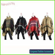 Very Fashional Turtleneck English Plaid Knitted Poncho    Best Seller follow this link http://shopingayo.space