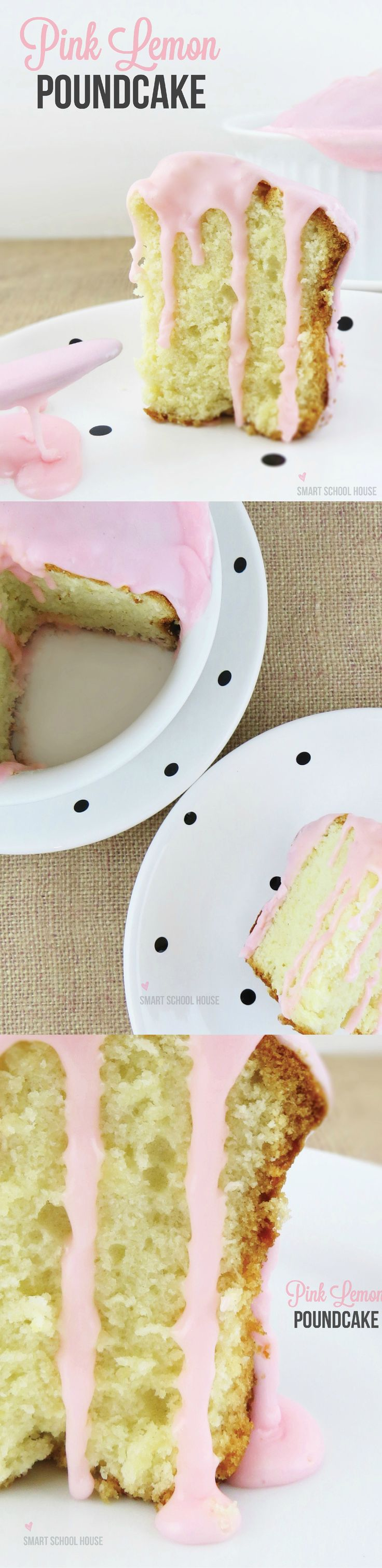 I love this pretty homemade pound cake recipe! Could make a cute Valentine's day dessert.