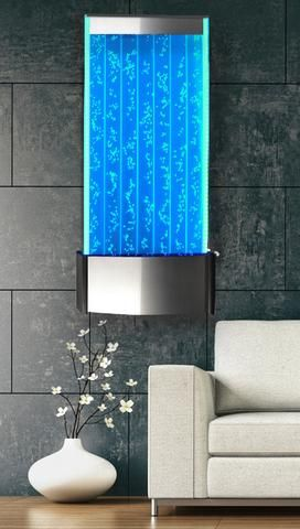 Wall Mount LED Bubble Panel Indoor Fountain Water Feature 45 400WM
