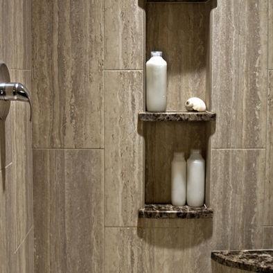 bathroom by nancy finneson akbd caps demane design shelves in the shower