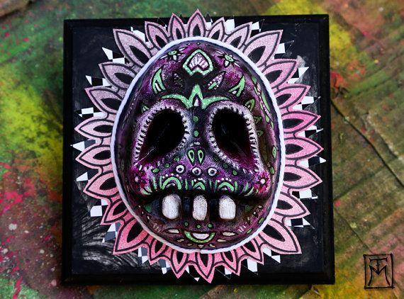 Day of the Dead Skull Dia de los Muertos by TalissaMehringer