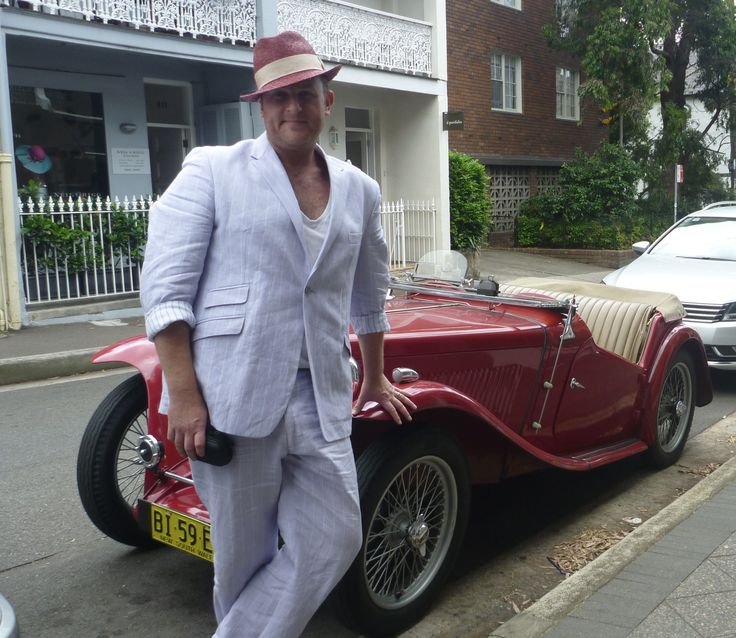 It's Lilac, its Linen and is a amazing suit. Oh the car was pretty sweet as well