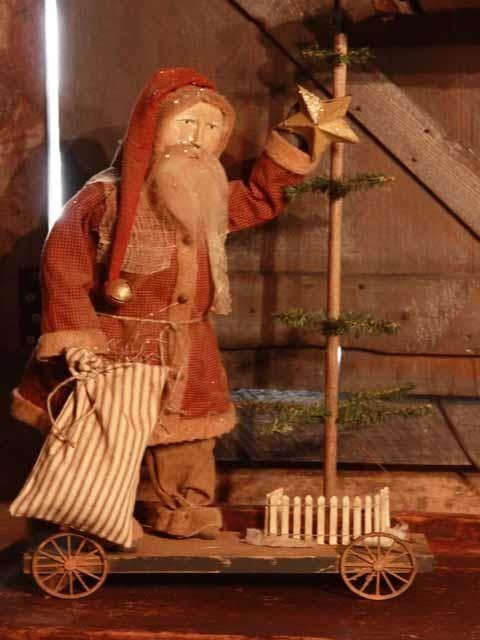 Primitive Christmas Crafts | Primitive country christmas  crafts / Santa w/Tree
