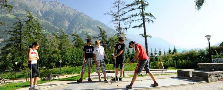 #Minigolf-Anlage in Naturns für Jung & Alt