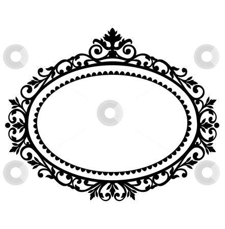 free clipart oval frames | Decorative frame stock vector clipart, Decorative black frame on the ...