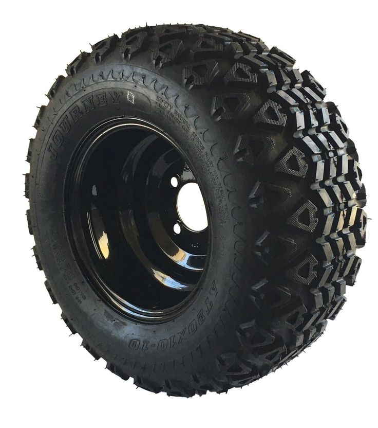 Push-Pull Golf Carts 75207: Set Of Four 20X10.00-10 Golf Cart Tires On Black Steel Wheels Free Shipping -> BUY IT NOW ONLY: $305.99 on eBay!