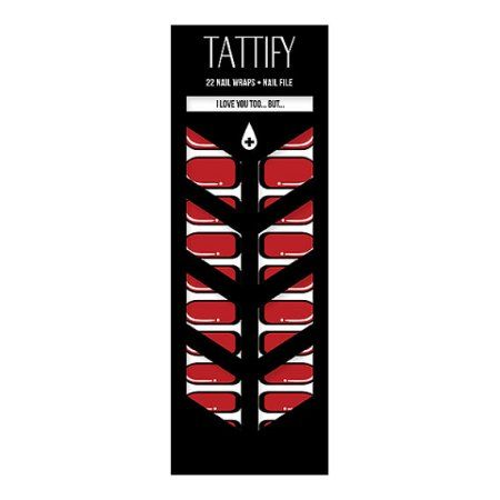 Tattify Pop Art Nail Wraps - I Love You Too... But... (Set of 22)