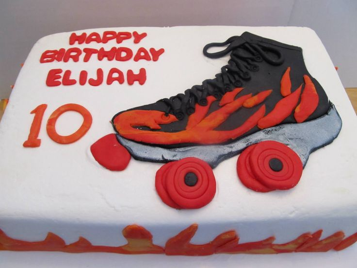 Flame Roller Skate Cake Cakes Made By Me In 2019