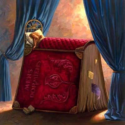 "book dreams and visions illustrations | Pillow Book"" by Vladimir Kush"