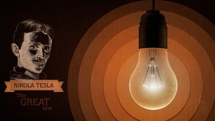 """Nikola Tesla"" inspired Fan-Art illustration. Created in Adobe Photo Shop CC."