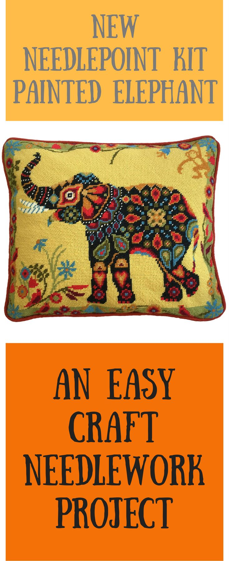 New needlepoint tapestry kit in a mandela style. Suitable for beginners.