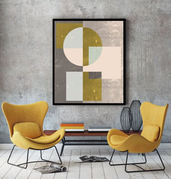 Marble watercolor - modern geometric wall art - abstract minimalist geometric poster. Inspired by scandinavian design. Ideal for decorating your living