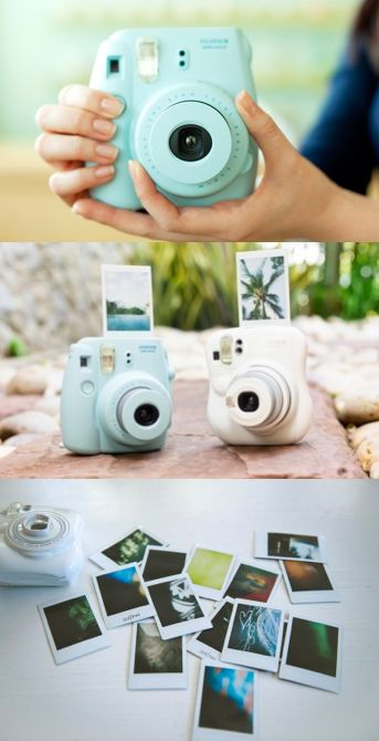 Polaroid fujifilm camera instax mini 8 - This beautiful camera comes in many different colors and prints out vintage photos!