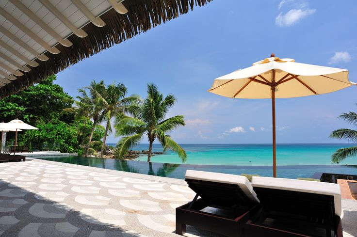 Outdoor infinity pool at luxury resort - The Shore Katathani, Phuket Thailand