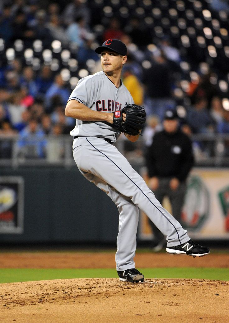 CrowdCam Hot Shot: Cleveland Indians starting pitcher Scott Kazmir delivers a pitch in the first inning against the Kansas City Royals at Kauffman Stadium. Photo by John Rieger