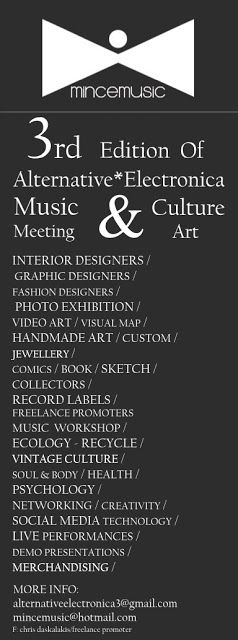 Alternative*Electronica: 3rd Edition Music & Culture Art meeting update new...