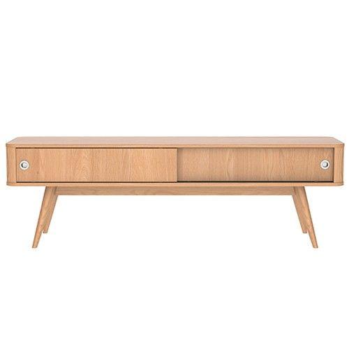Stockholm 145cm Entertainment Unit - Scandinavian Furniture - Oak