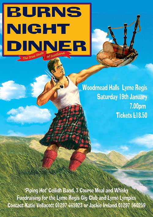 Burns Night Dinner on Sat 19th Jan 2013. It's for a good cause folks!