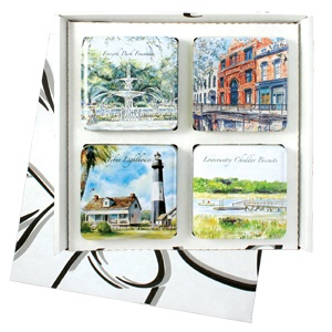 Great cookies in tins with gorgeous Savannah scenes.Pretty Cookies, Byrd Cookies