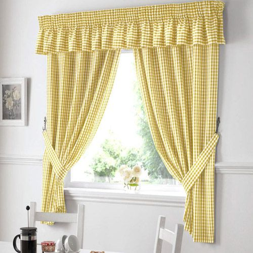 Black And Yellow Kitchen Curtains | Affordable Gingham Yellow Kitchen  Curtains For Your Home