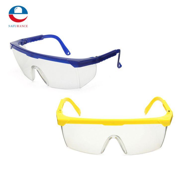 Kacamata pelindung Kacamata Keselamatan Pelindung Mata Biru dan Putih Warna Keselamatan Kerja Supplies