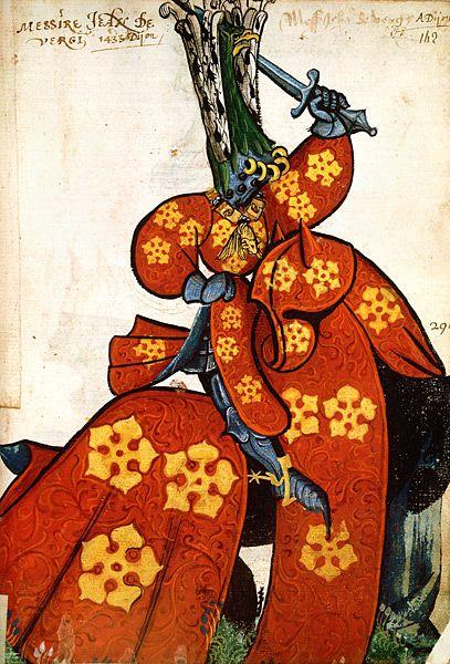 Jean de Vergy, Grand Armorial équestre de la Toison d'Or, Flandres, 1430-1461.