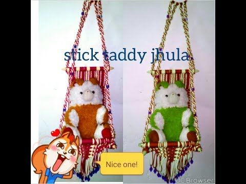 how to make .stik macrame jhula ..at home - YouTube