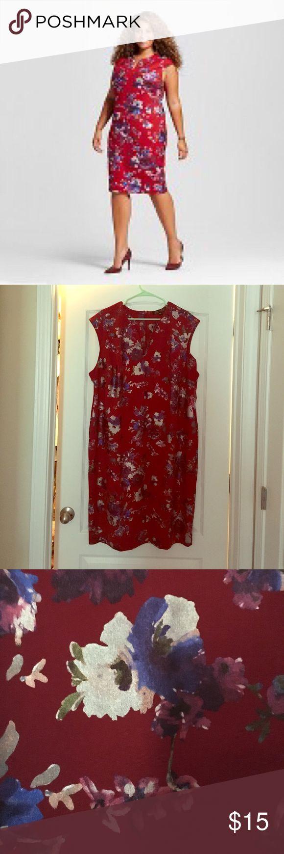 Sami + Dani, size 22 dress, never worn Red, floral, cap sleeve dress sami + dani Dresses
