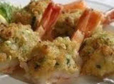 Twin Oaks Baked Stuffed Shrimp - cut recipe in 1/2, approx 30 ritz, plus buttery crackers