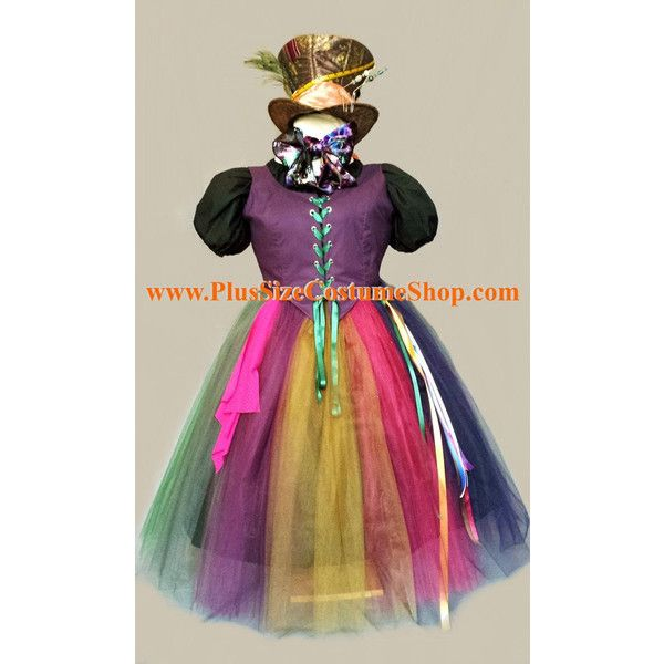 MAD HATTER Alice in Wonderland Plus Size Halloween Costume Adult... ($416) ❤ liked on Polyvore featuring costumes, alice in wonderland costume, adult plus size costumes, alice in wonderland adult costume, plus size costumes and adult plus size halloween costumes