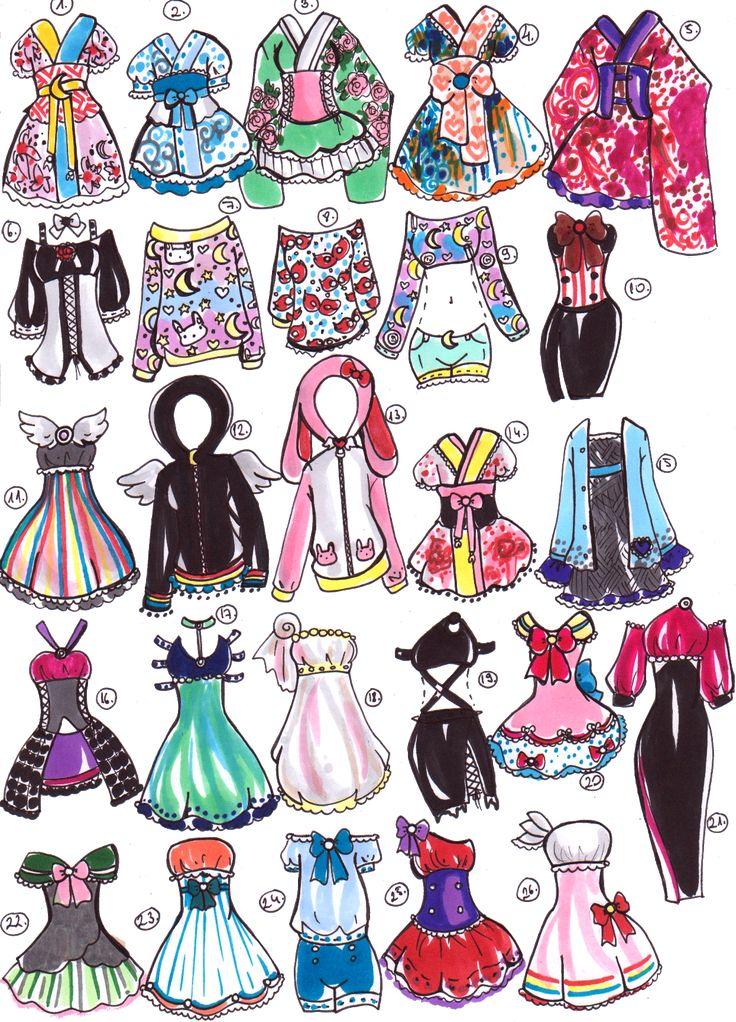 SOLD- Sailor Moon outfits by Guppie-Adopts.deviantart.com on @DeviantArt