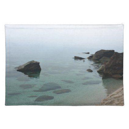 Calm ocean seascape zen water photo placemat - photography gifts diy custom unique special