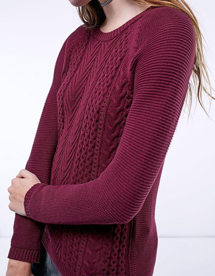 Jersey tricot trenzas - Jerséis y cardigans | Stradivarius Colombia